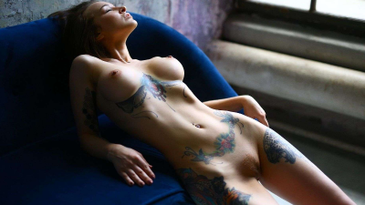 Anastasiya Snegova nude hot tattoes (1)