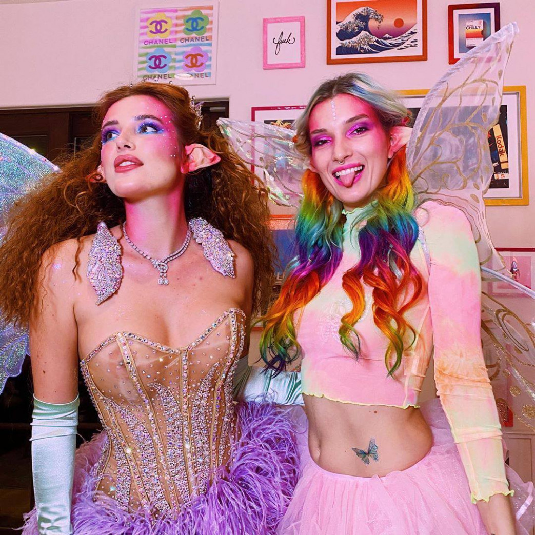 Bella Thorne Braless Fairy Nipples