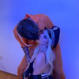 Bella-Thorne-busty-Cop-Halloween-Costume-2
