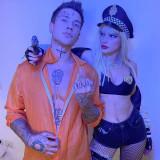 Bella-Thorne-busty-Cop-Halloween-Costume-3